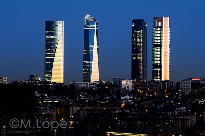 Cuatro Torres, Madrid. Por Miguel López