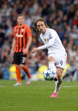 Real Madrid Midfielder, Luka Modric - MODRIC, number 19 . Round 1 of the CHAMPIONS league soccer match between Real Madrid - Shakhtar Donetsk at the Santiago Bernabeu estadium Madrid - Spain by September 15 2015.